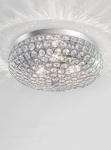 Franklite FL2275/3 Chrome Ceiling Light